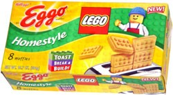 Lego-shaped Eggo waffles